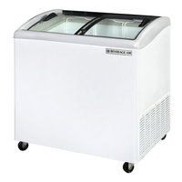 Beverage Air NC34-1-W Curved Lid Display Freezer / Novelty Case 5.7 Cu. Ft.