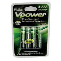 Vivitar VIV-P4AA-900 AAA Rechargeable Batteries - 1.25V