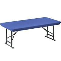 Correll R-Series RA2448S 24 inch x 48 inch Blue Plastic Adjustable Height Folding Table