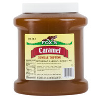 Fox's Caramel Ice Cream Topping - 1/2 Gallon Container
