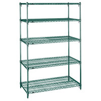 Metro 5A447K3 Stationary Super Erecta Adjustable 2 Series Metroseal 3 Wire Shelving Unit - 21 inch x 42 inch x 74 inch