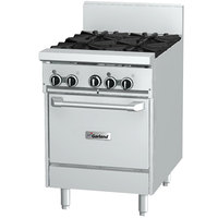 Garland GFE24-4L Natural Gas 4 Burner 24 inch Range with Flame Failure Protection, Electric Spark Ignition, and Space Saver Oven - 240V, 136,000 BTU