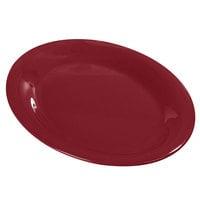 Carlisle Durus 12 inch 4308258 Roma Red Oval Melamine Platter - 12/Case
