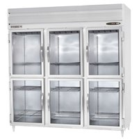 Beverage Air PRD3-1BHG 3 Section Glass Half Door Pass-Through Refrigerator - 79 cu. ft., Stainless Steel