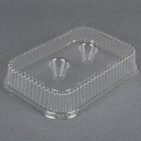 Genpak 95306 Bake 'N Show Clear Dome Lid for 55306 Dual Ovenable 6 Cup Muffin Pan - 250/Case