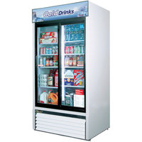 Turbo Air TGM-35R White 41 inch Two Sliding Glass Door Refrigerated Merchandiser - 35 Cu. Ft.