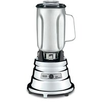 Waring BB900S 0.5 HP 2 Speed Chrome Commercial Bar Blender with 40 oz. Stainless Steel Container - 120V
