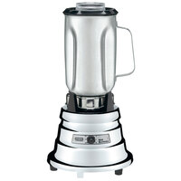 Waring BB900S 1/2 hp 2 Speed Chrome Commercial Bar Blender with 40 oz. Stainless Steel Container - 120V