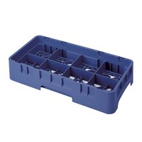 Cambro 8HS958186 Navy Blue Camrack 8 Compartment Half Size 10 1/8 inch Glass Rack