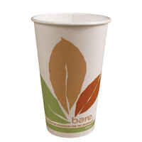 Dart Solo 378PLA-BB 8 oz. Bare Bloom Paper Hot Cup - 50 / Pack