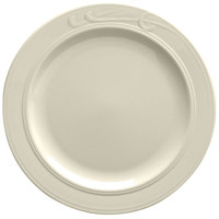Homer Laughlin Lyrica 10 5/8 inch American White (Ivory / Eggshell) China Plate - 12 / Case