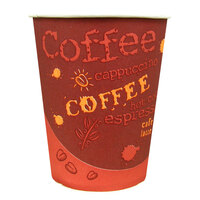Choice 10 oz. Paper Hot Cup with Coffee Design 1000 / Case