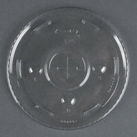Dart Solo Conex L32C Clear Plastic Lid with Straw Slot   - 50/Pack