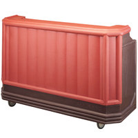Cambro BAR730PM189 Brown Mahogany Cambar 73 inch Post-Mix Portable Bar with 7 Bottle Speed Rail, Cold Plate, and Soda Gun