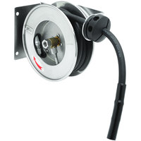 T&S B-7102-08H 12' Open Compact Stainless Steel Hose Reel with B-0108-H High Flow JeTSpray Spray Valve