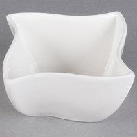 American Metalcraft SQVY4 Squavy 14.4 oz. White Wave Porcelain Condiment Cup