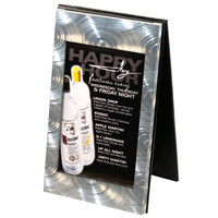 Menu Solutions MTDBL-57 Two View Swirl Aluminum Menu Tent with Picture Corners - 5 inch x 7 inch