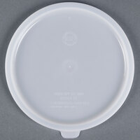 Carlisle 020302 Lid for 2 and 3.5 Qt. White Round Containers