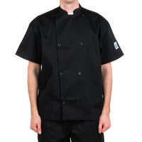 Chef Revival J005BK-3X Knife and Steel Size 56 (3X) Customizable Short Sleeve Chef Jacket