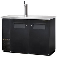 True TDB-24-48 49 inch Back Bar Cooler Direct Draw Beer Dispenser with Two Solid Doors