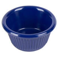 2 oz. Navy Blue Fluted Melamine Ramekin - 12/Pack