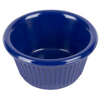 2 oz. Navy Blue Fluted Melamine Ramekin 12 / Pack