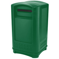 Rubbermaid 3969 Plaza Paper Recycling Container - Green (FG396900DGRN)