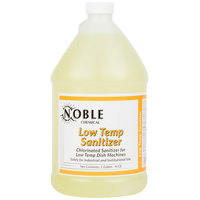 Noble Chemical 1 Gallon Low Temp Dish Washing Machine Sanitizer - Ecolab® 13965 Alternative - 4/Case
