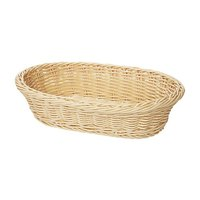 GET WB-1505-N 11 3/4 inch x 8 inch x 3 inch Designer Polyweave Natural Oval Basket - 12 / Case