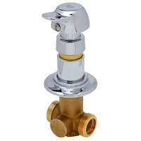 T&S B-1029-PA Concealed Straight Valve with 1/2 inch NPT Female Inlet and Outlet and Vandal Resistant Pivot Action Metering Cartridge - ADA Compliant