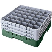 Cambro 36S1058119 Sherwood Green Camrack 36 Compartment 11 inch Glass Rack