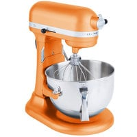 KitchenAid KP26M1XTG Tangerine Professional 600 Series 6 Qt. Countertop Mixer