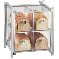 Cal-Mil 1146-74 One by One Four Drawer Silver Bread Display Case - 14 inch x 14 3/4 inch x 15 3/4 inch
