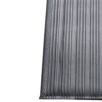 Ribbed Gray Tredlite Vinyl Anti-Fatigue Mat 24 inch Wide - 5/8 inch Thick