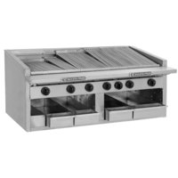 Bakers Pride C-60R Natural Gas 60 inch Radiant Charbroiler - 252,000 BTU