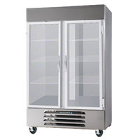 Beverage Air HBF49-1-G Two Glass Door Bottom Mount Reach In Freezer - 49 Cu. Ft.