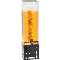 Cal-Mil 1602-1INF-13 1.5 Gallon Black Beverage Dispenser with Infusion Chamber