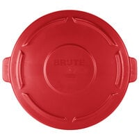 Rubbermaid FG261960RED BRUTE Red 20 Gallon Trash Can Lid