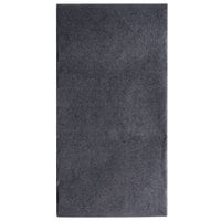 Hoffmaster FashnPoint Black Linen-Feel Dinner Napkin, 1/8 Fold, 15 1/2 inch x 15 1/2 inch - 800/Case