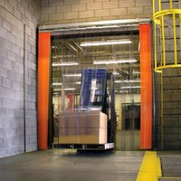 Curtron QSD-8-50-UM-72X96 72 inchW x 96 inchH Transparent Clear PVC Strip Door - Standard Grade