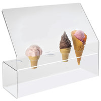 Cal-Mil 297 Five Cone Ice Cream Cone Holder with Sneeze Guard