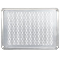 Vollrath 5303P Wear-Ever Perforated Half Size Aluminum Bun / Sheet Pan 18 Gauge - Wire in Rim, 13 inch x 18 inch