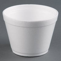 Dart Solo 16MJ32 16 oz. Squat White Foam Bowl - 25/Pack