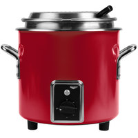 Vollrath 7217255 Red Finish Retro 11 qt. Stock Pot Kettle Rethermalizer - 120V, 1450W