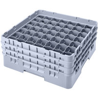 Cambro 49S638151 Soft Gray Camrack 49 Compartment 6 7/8 inch Glass Rack