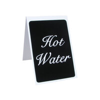 Vollrath 4138 2 1/2 inch x 4 inch Table Tent Sign Hot Water