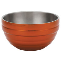 Vollrath 4656910 Double Wall Round Beehive 10 Qt. Serving Bowl - Tangelo