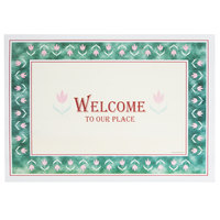 Hoffmaster 702024 10 inch x 14 inch Welcome Paper Placemat - 1000 / Case