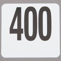 American Metalcraft 4400 Plastic Table Number Set - Numbers 351 - 400