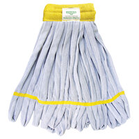 Unger ST25Y SmartColor WingLite ST25 Series 9 oz. Yellow Microfiber String Mop Head with 16 Strands